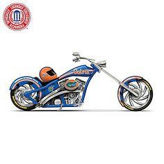 University Of Florida Motorcycle Figurine Collection: Go Gators Florida Gators Wallpaper, Florida Gators Logo, Chopper Motorcycle, Motorcycle Rides, Florida Girl, University Of Florida, Paint Schemes, Bike, Football Season