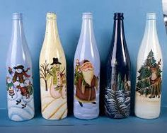 Resultado de imagen de decorated wine bottles