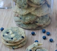 Blueberry White Chocolate Chip Cookies...baked these today and they are delicious!!