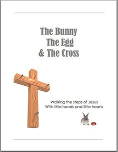 Easter Crafts for Kids – The Bunny, The Egg and The Cross Review |   A guide to teaching your kids the true meaning of Easter and there is a craft to do with your child each day starting on Palm Sunday.  Simple Living Mama