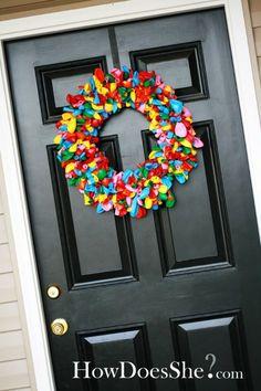 ballooooooons! Love love love the black door as well.