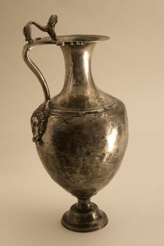 Silver Vessel with Lion Finial  Origin: Europe Circa: 300 BC to 100 BC