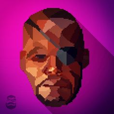#Designed a #lowpoly #pixelart #portrait of #nickfury from #marvel 's #avengers #mrbray #samuelljackson #shield #artoftheday #artstagram #adobe #photoshop #illustrator #marvelcomics #josswheadon #popart #fanart #superhero #graphicdesign #gamer #vector
