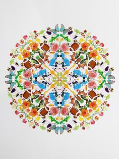 DIY giant sticker mandala tutorial. Making these sticker mandalas is so meditative and fun, I've since made more for friends and expectant mamas. For a few hours, I'm a kid once again!