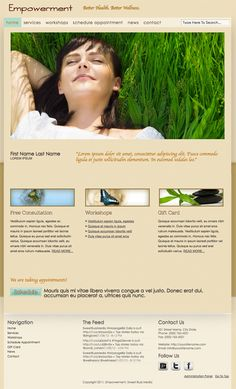 Website template we created available to Wellness Practitioners