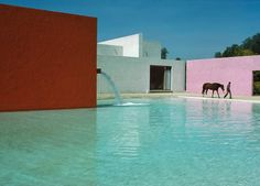 Luis Barragán's San Cristóbal stables in Mexico City from the 1960s. Credit René Burri/Magnum Photos