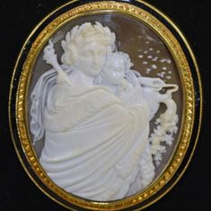 Rare cameo of Eos the Goddess of the Dawn - Victorian Era
