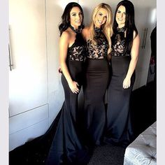 Black Bridesmaid Dresses 2016