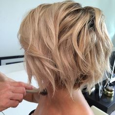 Blonde Short Haircut - Messy Short Hairstyles for Thick Hair