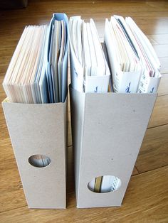 Repurposed Cereal Box Organizer. Turning them inside out- so smart!