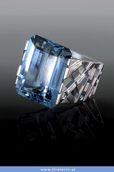 Aquamarine, Aquamarin Ring, Santa Maria, Gold, Decor, Fashion, Rhinestones, Watches, Ring
