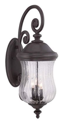 View the Acclaim Lighting 39722 Bellagio 3 Light Outdoor Wall Sconce with Clear Seeded Glass at Build.com.