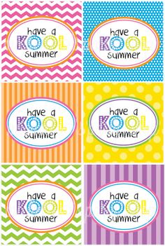 INSTANT DOWNLOAD Have a KOOL Summer Favor Tags by mlf465 on Etsy, $5.00