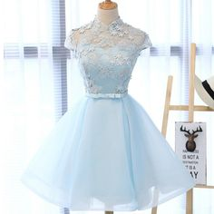 Light Blue Cute Homecoming Prom Dresses, Affordable Short Party Prom Sweet 16 Dresses, Perfect Homecoming Cocktail Dresses With High Cheap Homecoming Dresses, Prom Dresses Blue, Quinceanera Dresses, Bridesmaid Dresses, Formal Dresses, Wedding Dresses, Sexy Dresses, Mini Dresses, Sweet 16 Dresses Blue