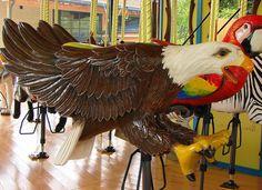 Bald Eagle Carousel Animal at the Akron Zoo by Paula~Koala, via Flickr