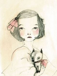Chihuahua and Sara Portrait with dog
