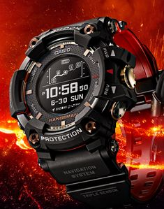 The new Casio G-Shock Magma Ocean collection watches with images, price, background, specs, & our expert analysis. Dream Watches, Cool Watches, Watches For Men, Luxury Watches, G Shock Watches, Sport Watches, Casio G Shock Frogman, G Shock Mudmaster, Solar Watch