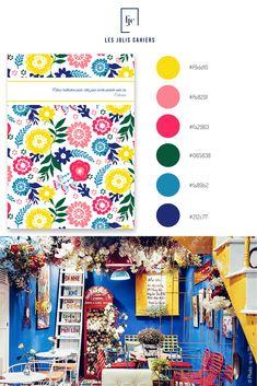 Créez votre cahier personnalisé à partir de jolies nuances qui suivent les tendances de la mode et de la déco. #nuancier #palette #inspiration #flowers #pattern #summer #ete #fleurs #couleursvives #rose  #bleu #jaune #vert #cahier #papeterie #notebook #lesjoliscahiers Le Jolie, Made In France, Palette, Notebook, Inspiration, Blue Yellow, Green, Shades, Paper Mill