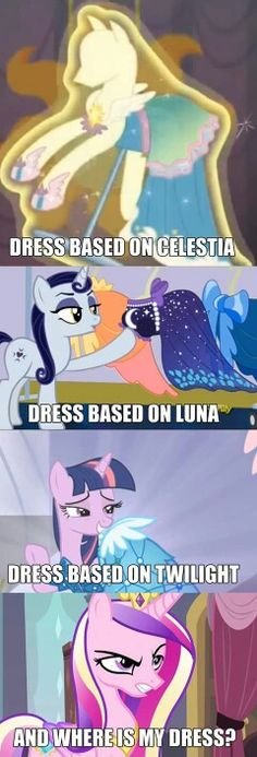 I personally think the dress Twi is wearing was based more of Cadence and the Crystal Empire than it was on Twi My Little Pony Comic, My Little Pony Pictures, Fluttershy, Mlp Memes, Funny Memes, Filles Equestria, Princess Cadence, My Little Pony Wallpaper, Mlp Comics
