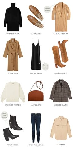 Fall Capsule Wardrobe, Winter Wardrobe, Fall Travel Wardrobe, Fall Wardrobe Essentials, Fall Winter Outfits, Autumn Winter Fashion, Fall Work Fashion, Mode Outfits, Fashion Outfits