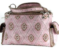 PINK SUPER BLING DIAMOND SHAPE RHINESTONE SHOULDER BAG PURSE