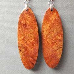 Handmade Bracelets, Handmade Jewelry, Handmade Items, Natural Wood, Dangle Earrings, Curls, Exotic, Dangles, Artisan