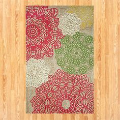 Pastel Crochet Indoor-Outdoor Rug   Outdoor and Patio Decor  Home Decor   World Market