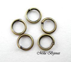 anellini bronzo 5 mm, by Mila Bijoux, 0,25 € su misshobby.com
