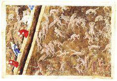 Botticelli Sandro - Illustrazione per il canto XV dell'Inferno di Dante - 1485-1500 - Biblioteca Apostolica Vaticana, Vaticano