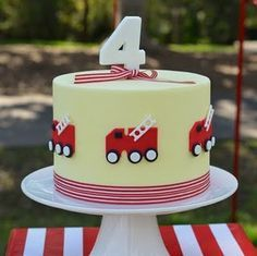 construction emergency vehicle cake - Google Search