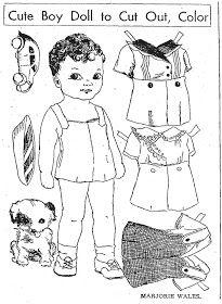 Mostly Paper Dolls: Cute Boy Doll, 1935