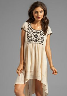 Free People Marina Embroidered Dress in Ivory. I love Free People. This dress looks so comfy too.