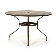 San Michelle Cast Aluminum Round Dining Table 48 inch for $579 #CozyDays #RoundDiningTables #OutdoorFurniture