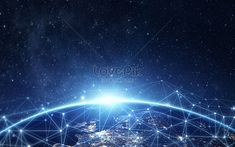 Network earth Blue background, technology, sense of technology, lines, concepts, intelligent technology, science and technology background, network link, blue technology background, blue earth, exhibition board