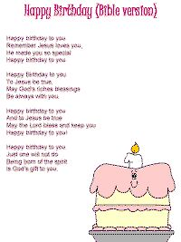 Happy Birthday (Bible version) with printable template