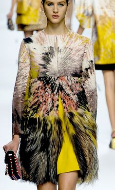 Fendi S/S '13 WoW, these Textiles!!! the tactile gradation is awesome.