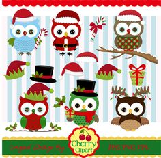 Christmas Owls Clip Art 02Christmas ClipartOwls by Cherryclipart                                                                                                                                                                                 More