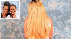 Bettina erfüllte sich ihren Traum von langen, blonden Haaren - Weaving m...