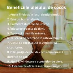 20 de Intrebuintari neobisnuite ale uleiului de cocos Health And Nutrition, Health Tips, Health Fitness, Body Hacks, Eat Smart, Health Eating, Loving Your Body, Good To Know, Body Care
