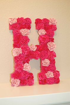 Would love to make letters like this for my girls room.