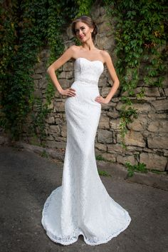 lovely strapless lace gown arriving in store mid june