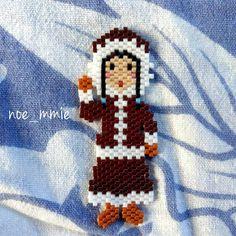 Une petite inuit créée pour le #challengesmiyukisaddicts du mois sur Facebook sur le thème du grand nord #perlesandco #inuit #esquimau #jenfiledesperlesetjassume #grandnord
