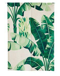 KARUILU home Japanese Noren Doorway Curtain Tapestry with Summer Mood Width x Long (Green Banana Leaves B) Doorway Curtain, Curtains, Green Banana, Woodland Creatures, Baby Room, Tapestry, Japanese, Mood, Summer