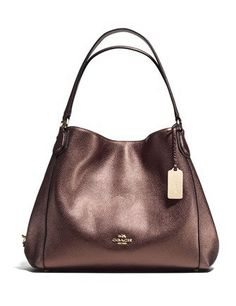Coach Edie Shoulder Bag 31 In Refined Pebble Leather In : Light Gold/bronze Handbags On Sale, Luxury Handbags, Coach Handbags, Coach Purses, Purses And Handbags, Leather Handbags, Coach Wallet, Fashion Handbags, Fashion Bags