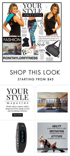 """""""RONITAYLORFITNESS.4"""" by samirhabul ❤ liked on Polyvore featuring Pussycat and Everla"""