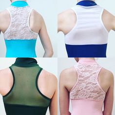 Just a few ideas for the Contemporary Leotard! Razor Back - lace or mesh; mix or match your colors. Child and adult sizing. In stock leotards ship the next day. Link in bio. #DancerNYC #Ballet #Dance #Dancers #Ballerina #CustomDesignedDancewear #ContemporaryLeotard #Leotard #RazorBackLeotard #BalletDancer #Etsy @etsy @etsysuccess