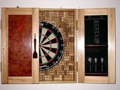 Cork dart board surround w/tally. This would make our regular Dart board much more functional & I love the look.