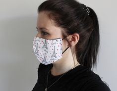 Etre Patient, Female Mask, Black Mask, Coton Bio, Organic Cotton, Cotton Fabric, Ear, Fitness, Beauty