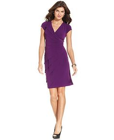 London Times Dress, Cap-Sleeve Tiered - Mother of the Bride Dresses - Women - Macys