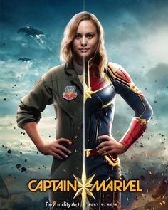 Academy Award winner Brie Larson will play Captain Marvel in the upcoming Marvel Studios movie hitting theaters in March 2019 Marvel Fanart, Marvel Comics, Marvel Heroes, Marvel Characters, Marvel Avengers, Avengers Women, Hindi Movies, Marvel Trailers, Marvel Universe